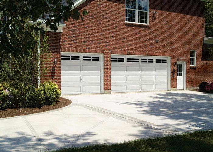 multiple garage doors
